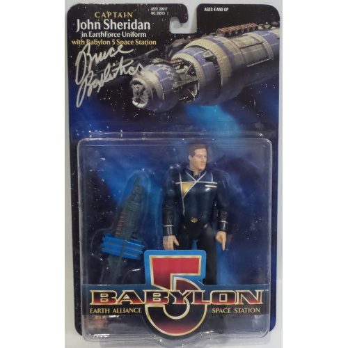CAPTAIN JOHN SHERIDAN ACTION FIGURE SIGNED BY BRUCE BOXLEITNER BABYLON 5